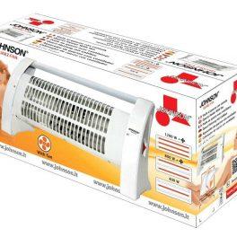 Johnson stufa stufetta elettrica al quarzo ventilata 3 selezioni di potenza 1200