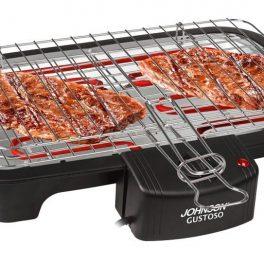 Johnson Griglia barbecue elettrico bistecchiera per carne pesce piastra 35x23cm