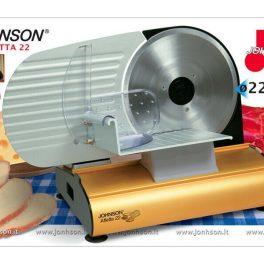 Johnson Affettatrice professionale elettrica in acciaio inossidabile Ø 22 cm