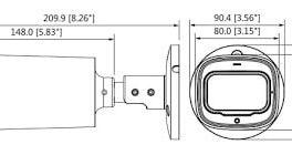 DAHUA HAC-HFW1230R-Z-IRE6 TELECAMERA BULLET HDCVI IBRIDA 4IN1 2MPX MOTOZOOM 2,7~12MM STARLIGHT OSD IP67