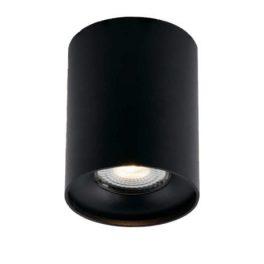 Plafoniera Town Nera 1xGU10 8x10cm in alluminio nero goffrato per lampade I-TOWN-R NER