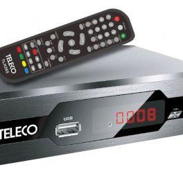 Teleco Ricevitore Digitale Terrestre HD DVB-T2 HEVC Decoder con presa USB T2